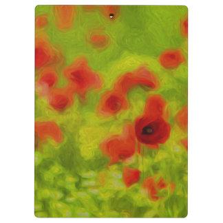 Summer Feelings - wonderful poppy flowers III Clipboards