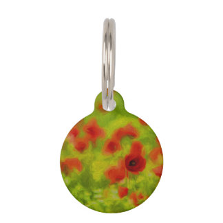 Summer Feelings - wonderful poppy flowers III Pet Name Tag