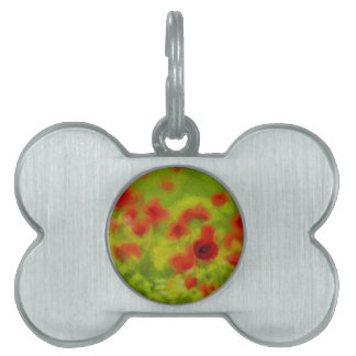 Summer Feelings - wonderful poppy flowers III Pet Tag
