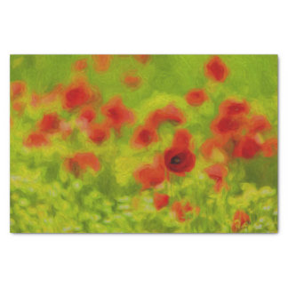 Summer Feelings - wonderful poppy flowers III Tissue Paper