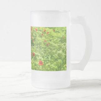 Summer Feelings - wonderful poppy flowers V Frosted Glass Beer Mug