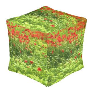 Summer Feelings - wonderful poppy flowers V Pouf