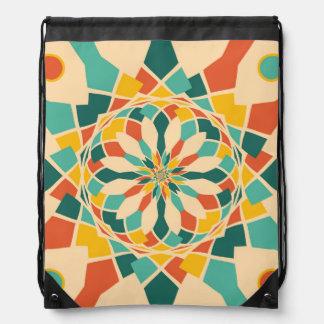 Summer festival drawstring bag