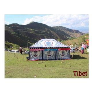Summer Festival Tent Postcard