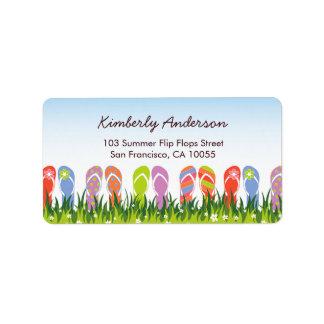 Summer Flip Flops Fun In The Sun Address Labels