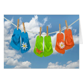 Summer Flip-Flops-thinking of you Card