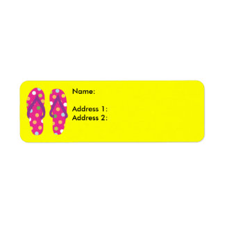 Summer FlipFlops 2 Return Address Label