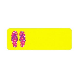 Summer FlipFlops 2 Return Address Label