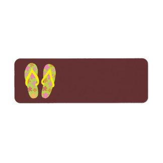 Summer FlipFlops 3 Return Address Label