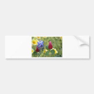 Summer Floral Bumper Sticker