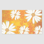 Summer Floral Dotted Tribal Daisy Tattoo Pattern