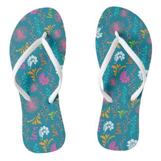 Summer Floral Flip Flops