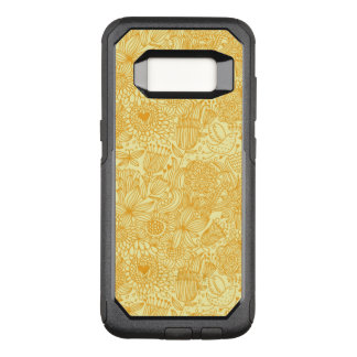 Summer floral pattern in warm colors OtterBox commuter samsung galaxy s8 case