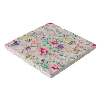 Summer floral retro design trivet