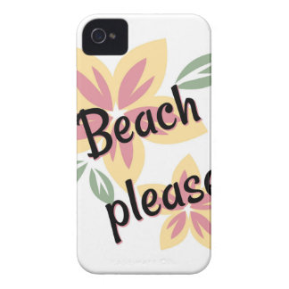 Summer Florals - Beach Please iPhone 4 Cover