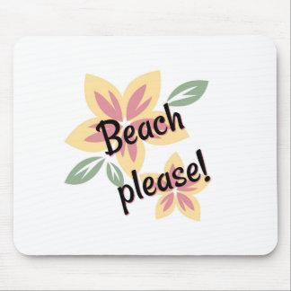 Summer Florals - Beach Please Mouse Pad