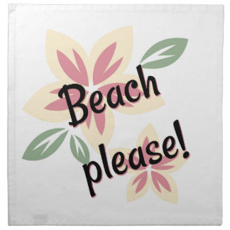 Summer Florals - Beach Please Napkin