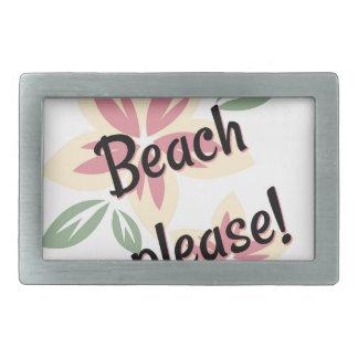 Summer Florals - Beach Please Rectangular Belt Buckles