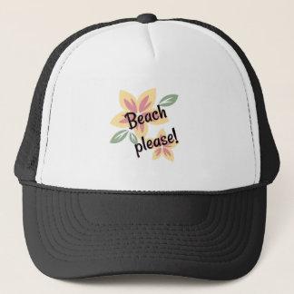 Summer Florals - Beach Please Trucker Hat