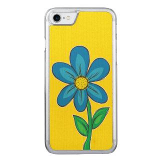 Summer Flower Design Carved iPhone 7 Case