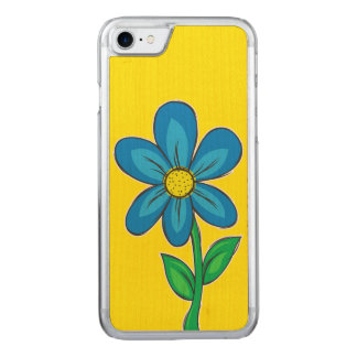 Summer Flower Design Carved iPhone 8/7 Case