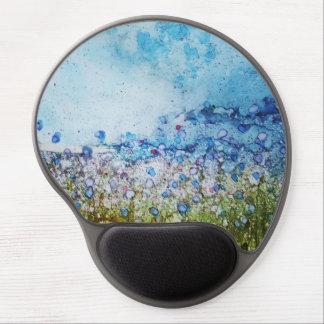 Summer Flower Field - Original alcohol ink design Gel Mouse Pad