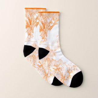 Summer Flower Garden in Orange Socks