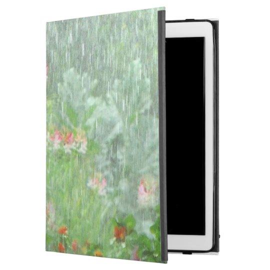 Summer Flower Garden in Rain Green iPad Pro Case