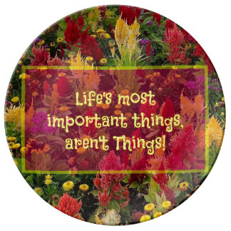 Summer Flower Garden Orlando Inspirational Quote Plate