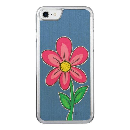 Summer Flower Illustration Carved iPhone 8/7 Case