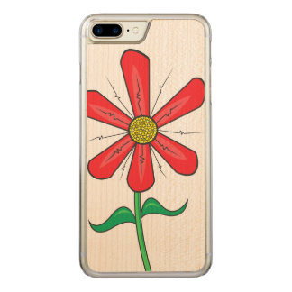Summer Flower Illustration Carved iPhone 8 Plus/7 Plus Case