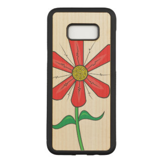Summer Flower Illustration Carved Samsung Galaxy S8+ Case