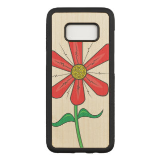 Summer Flower Illustration Carved Samsung Galaxy S8 Case