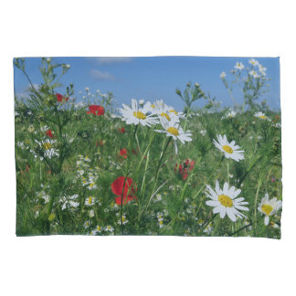 summer flower landscape pillow cases