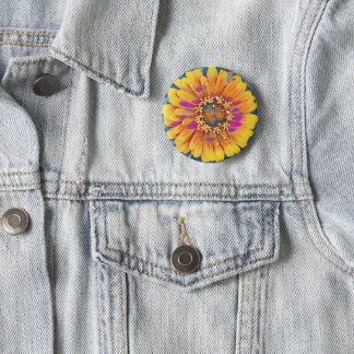 Summer Flower Pop 2 Inch Round Button