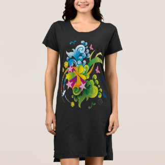 Summer Flower Power T-Shirt Dress