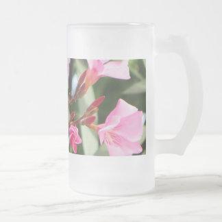 Summer Flowers 16 Oz Frosted Glass Beer Mug
