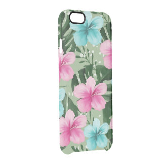 summer flowers clear iPhone 6/6S case
