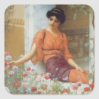 Summer Flowers, Godward Square Sticker