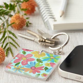 Summer Flowers Keychain