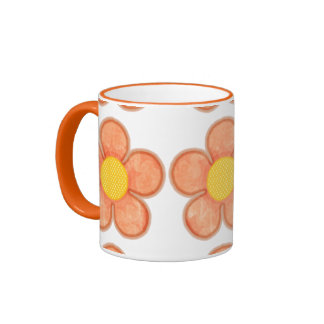Summer Flowers (large) Ringer Coffee Mug