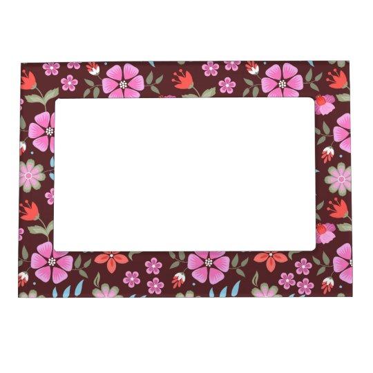 Summer Flowers Magnetic Photo Frame
