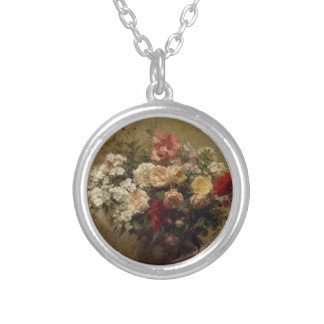 Summer Flowers - realism Silver Plated Necklace