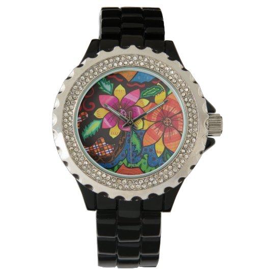Summer flowers wristwatches