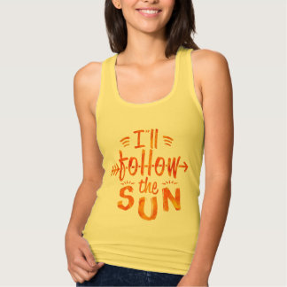 Summer Follow Sun Typography Painted Vacation Tank Top