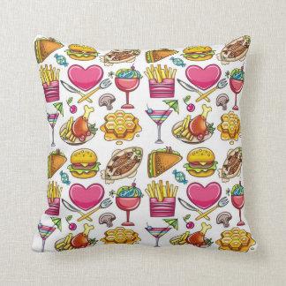 Summer Foods Throw Pillow