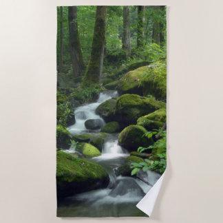 Summer Forest Brook Beach Towel
