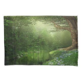 Summer Forest River (1 side) Pillowcase