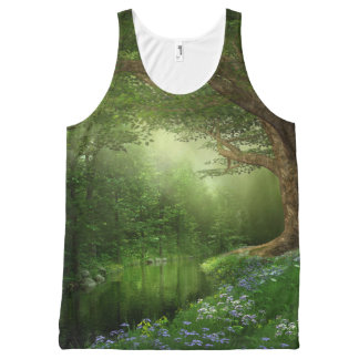 Summer Forest River All-Over Print Tank Top
