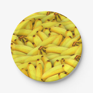 summer fresh bananas fruit photo paper plate